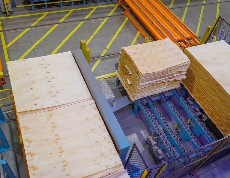 Plywood manufacturing.
